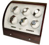 Watch Winder carica 6 orologi automatici Mogano Digital
