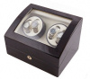 Watch Winder carica orologi automatici 4+6 Mogano scuro Battery
