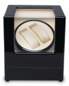 Watch Winder carica 2 orologi automatici Nero Battery