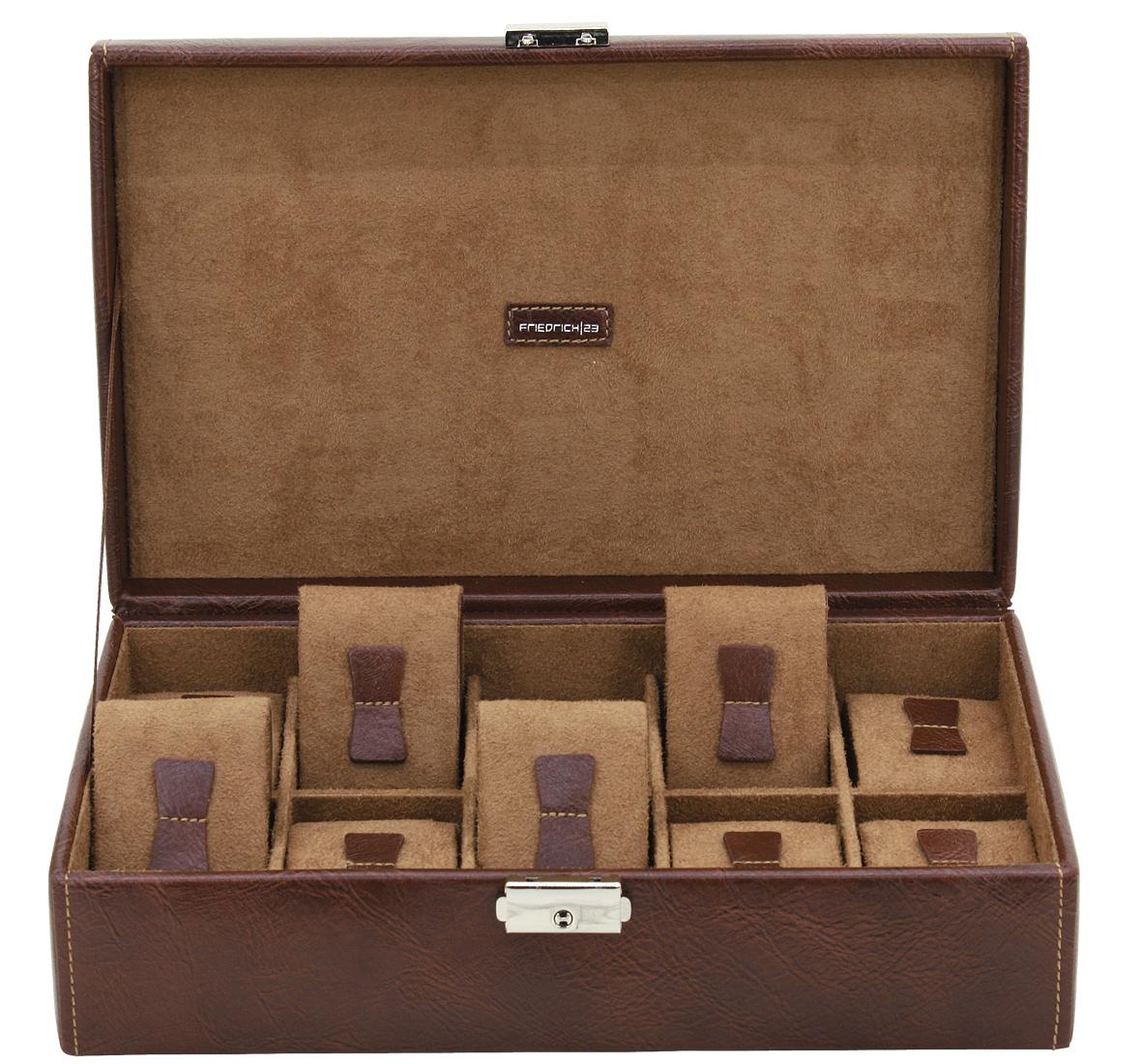 Immagine principale di custodia 10 orologi in eco pelle marrone portaorologi it porta - Porta orologi ikea ...
