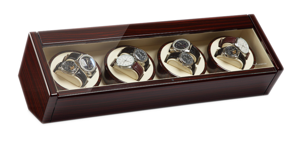Watch winder carica orologi 8 automatici carat mogano - Porta orologi automatici ...