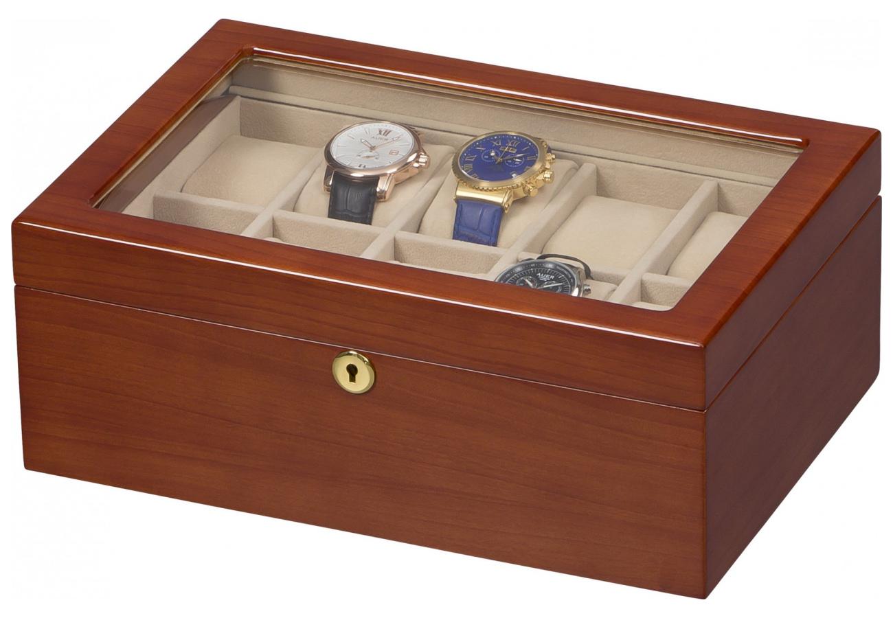 Vetrina 10 orologi in legno finitura noce portaorologi - Porta orologi automatici ...