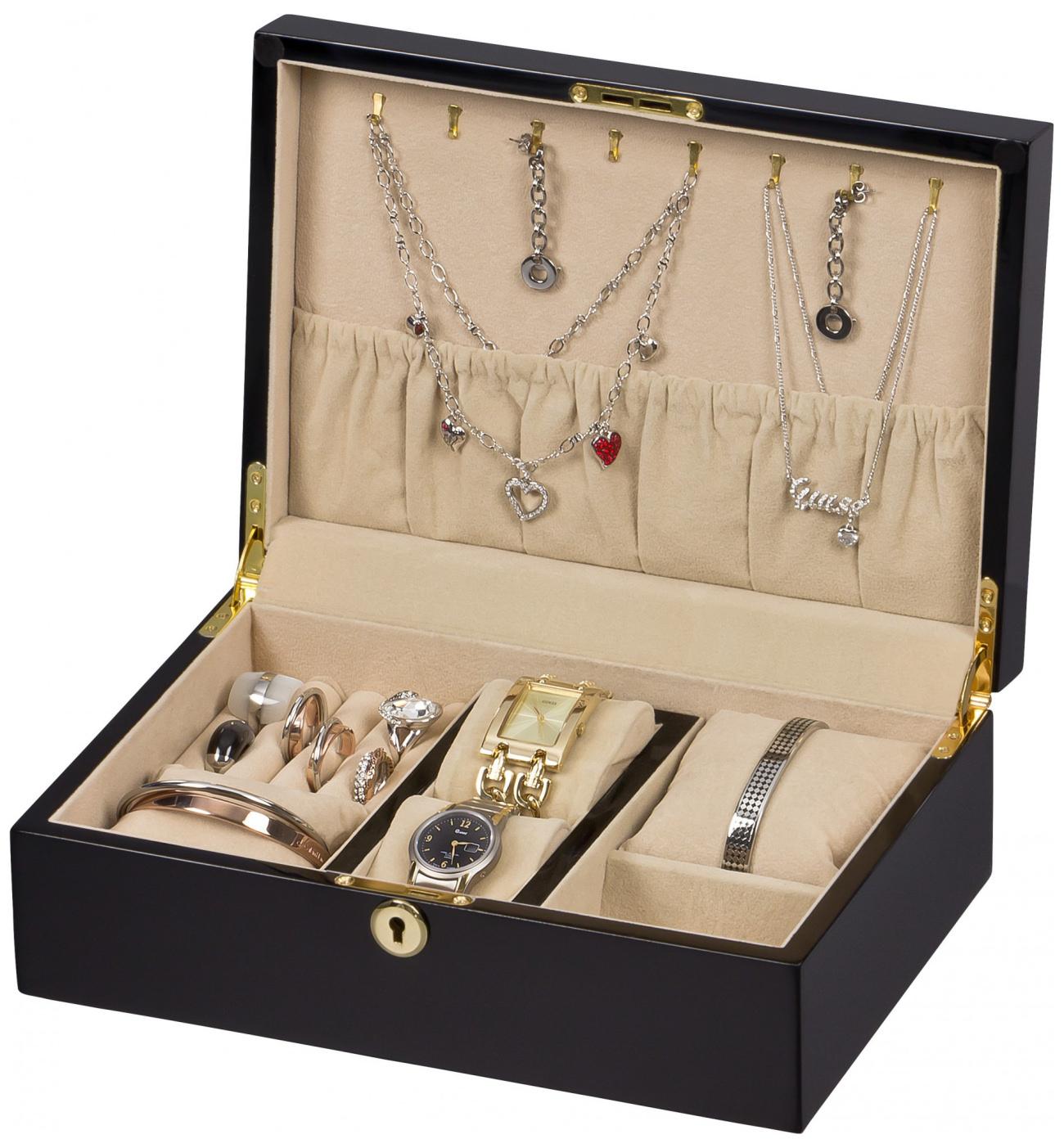 Cofanetto portagioielli in legno porta anelli portagioie 3 - Porta gioielli ikea ...