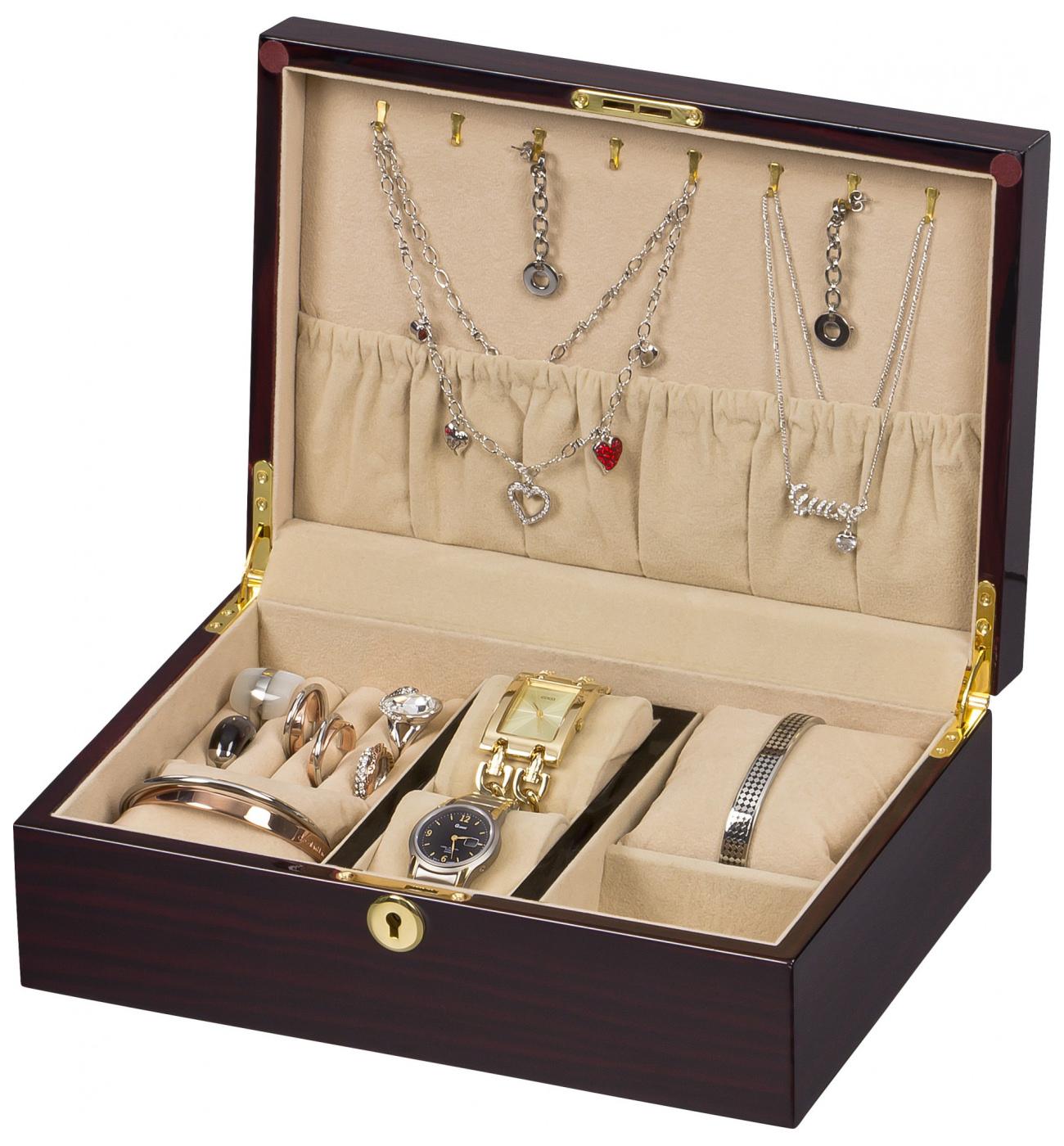 Cofanetto portagioielli in legno porta anelli portagioie 3 - Porta collane ikea ...