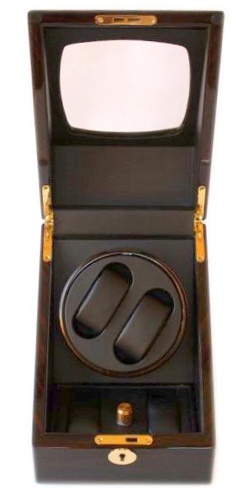 Watch winder carica orologi automatici 2 2 mogano black - Porta orologi automatici ...