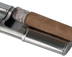 Posacenere per sigari portatile in acciaio