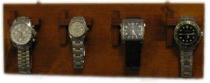 Porta orologi da parete in legno 4 posti