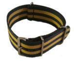 Cinturino in tessuto tipo Nato Blu-Giallo 22 mm