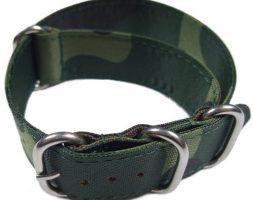 Cinturino in tessuto tipo Nato Mimetico 18 mm idrorepellente