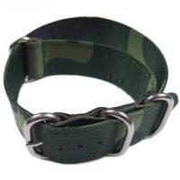 Cinturino in tessuto tipo Nato Mimetico 22 mm idrorepellente