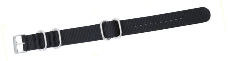 Cinturino in tessuto tipo Nato Nero 24mm