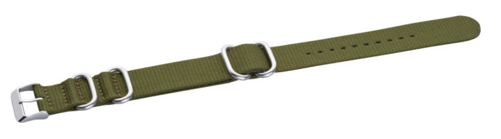 Cinturino in tessuto tipo Nato Verde Oliva 22 mm