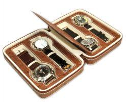 Astuccio porta 4 orologi DELUXE Marrone