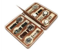 Astuccio porta 8 orologi DELUXE Marrone