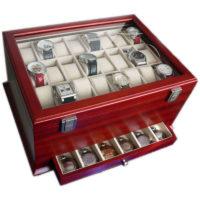 Vetrina 54 orologi in legno