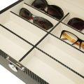 Scatola porta 8 paia di occhiali carbon Fiber