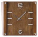 Orologio da parete in legno con supporto in vetro