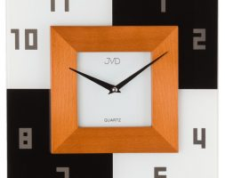 Orologio da parete in vetro e legno