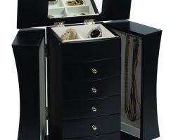 Armadietto Cofanetto portagioie in legno laccato Nero