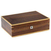 Custodia 10 orologi in legno bicolor finitura noce chiaro