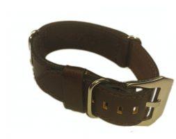 Cinturino in pelle tipo Nato Marrone 24 mm