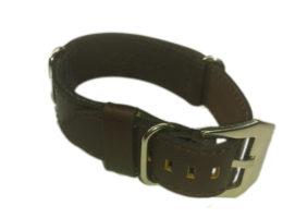 Cinturino in pelle tipo Nato Nero 18 mm