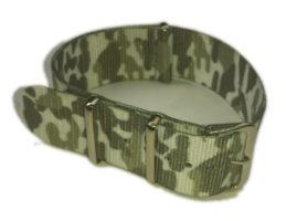 Cinturino in tessuto tipo Nato Mimetico Bianco 20 mm