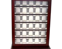 Vetrina 30 orologi in legno Ciliegio