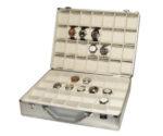 Valigetta 56 orologi in alluminio WHITE