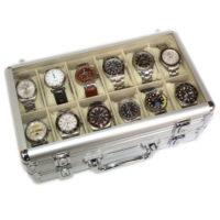 Valigetta 24 orologi in alluminio WHITE