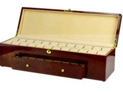 Custodia 40 orologi in legno Radica