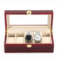 Vetrina 5 orologi in legno cherry