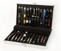Astuccio per 24 penne in alluminio