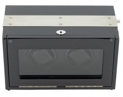 Watch Winder carica 2 orologi Aluminium Nero Battery