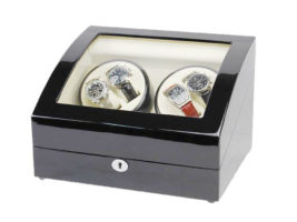 Watch Winder carica orologi automatici 4+6 Nero Battery