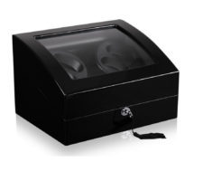 Watch Winder carica orologi automatici 4+6 Nero Battery