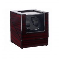 Watch Winder carica 2 orologi automatici Mogano Carbon Battery