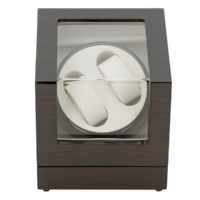 Watch Winder carica 2 orologi automatici Mogano Battery