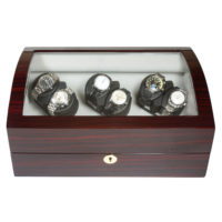 Watch Winder carica orologi automatici 6+6 Mogano LED