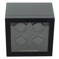 Watch Winder carica 4 orologi automatici Carbon LED