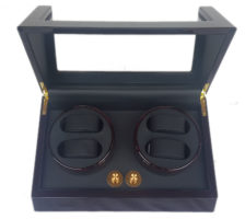 Watch Winder carica 4 orologi automatici Mogano e nero Battery