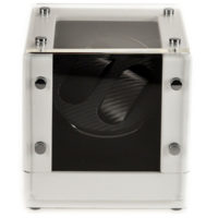 Watch Winder carica 2 orologi automatici Open White Battery