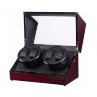 Watch Winder carica 4 orologi automatici Mogano Carbon Battery