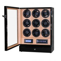 Watch Winder carica 9 orologi automatici Black LED