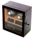 Watch Winder carica 4 orologi automatici Nero LED Battery